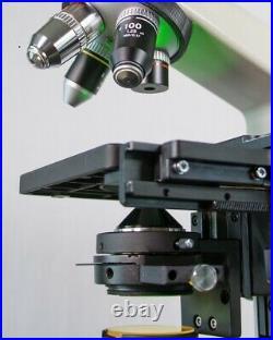 Asbestos Binocular Microscope Kit Rebuilt Nikon Alphaphot YS2H with Plan 40x Ph3