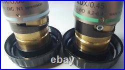 Bundle of 2 Nikon Plan Fluor Microscope Objectives 40x/0.60 & 20x/0.45 SEE DET