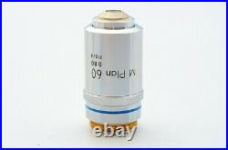 Ex Nikon M Plan 60x 0.80 210/0 Microscope Objective Lens for 20.25mm 21550