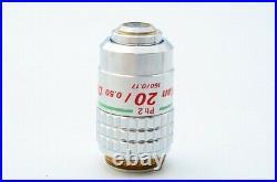Ex Nikon Ph2 Plan 20x /0.50 DL Phase Contrast Microscope Objective 20.25 21393