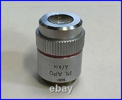 LEITZ Plan PL APO 4X/0.14 Microscope Objective 160mm Apochromat (Nikon Olympus)
