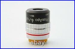 Mint Nikon Plan Apo 4x 0.20 160/- Microscope Objective Lens 20.25mm 21511