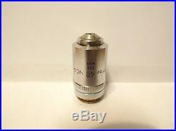 NIKON Plan 40X NCG Microscope Objective Lens 40/0.65 No Cover Glass TL 160mm