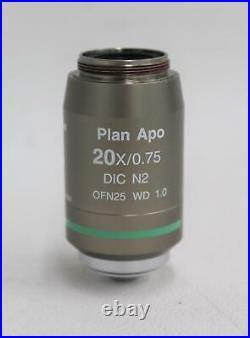 NIKON Plan Apo 20X/0.75 DIC N2 Microscope Apochromatic Objective Lens NEW