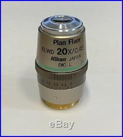 NIKON Plan Fluor ELWD 20x DIC L Eclipse TS TE TI Inverted Microscope Objective