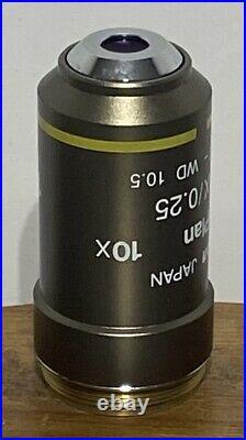 NIkon CFI Plan 10x 0.25 /- WD 10.5 Microscope Objective
