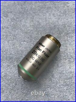 Nikon 20x/0.50 Plan Fluor DIC M/N2 CFI Microscope Objective