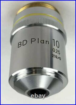 Nikon BD Plan 10x/0.25 210/0 Microscope Objective 26mm Thread 110% Refund