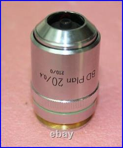 Nikon BD Plan 20 / 0.4 210mm Microscope Objective