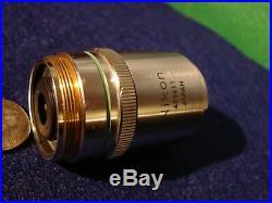 Nikon BD Plan 20 Microscope Objective 20x 0.40 NA 210/0 #420411