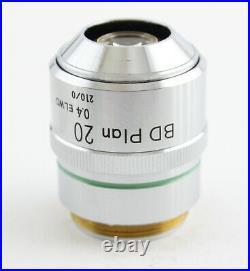 Nikon BD Plan 20x 0.4 ELWD Microscope Objective 210 Optiphot Epiphot