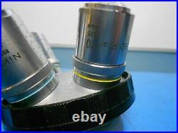 Nikon BD Plan 40 0.65 210/0 Objective Microscope & other Lens Lot