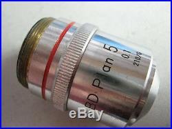 Nikon BD Plan 5x 0.1 210mm 210/0 Optiphot Epiphot Microscope Objective #E-FZ GY