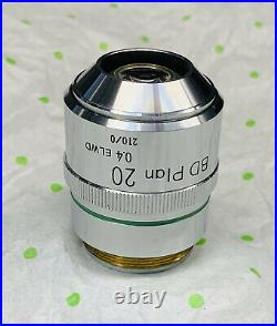 Nikon BD Plan ELWD 20x/0.4 Microscope Objective Lens 210mm