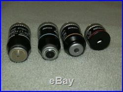 Nikon BE Plan Infinity Microscope Objectives 100x 40x 10x 4x - OIL