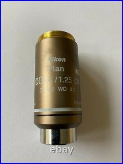 Nikon CFI Plan 100x microscope objective