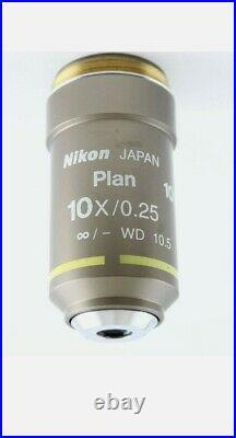 Nikon CFI Plan 10x 0.25 Eclipse E I Series Microscope Objective Infinity macro