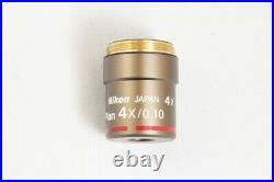 Nikon CFI Plan Achromat 4X / 0.10 / WD 30 Microscope Objective #2860