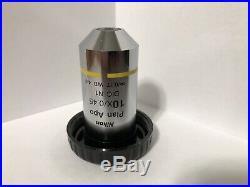 Nikon CFI Plan Apo 10X / 0.45 DIC N1 /0.17 WD 4.0 Microscope Objective