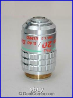 Nikon CFN Plan 20x Ph2 DM elwd Phase Microscope Objective