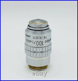 Nikon CFN Plan APO 100x /1.4 Oil 160mm TL Microscope Objective Apochromat