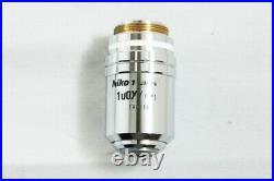 Nikon CF Plan 100x / 0.80 /0 EPI ELWD Microscope Objective from Japan #2644