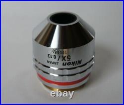 Nikon CF Plan 5X/0.13 Infinity/0 BD WD=10.0 Microscope Objective Lens