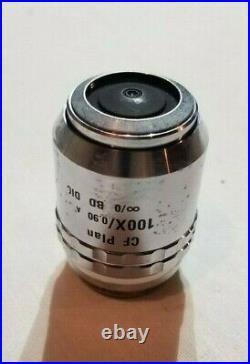 Nikon Cf Plan 100x/0.90 B/d DIC Microscope Objective