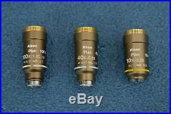 Nikon Eclipse 50i Microscope with Nikon Plan 10x 40x 100x Objectives (19203)
