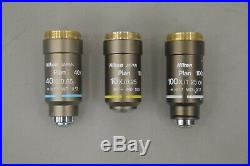 Nikon Eclipse 50i Microscope with Nikon Plan 10x 40x 100x Objectives (19342 E11)