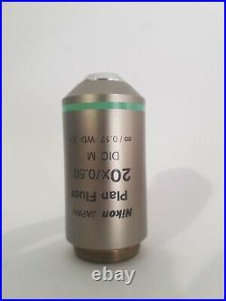 Nikon Eclipse CFI60 microscope objective Plan Fluor 20/0.50 DIC M