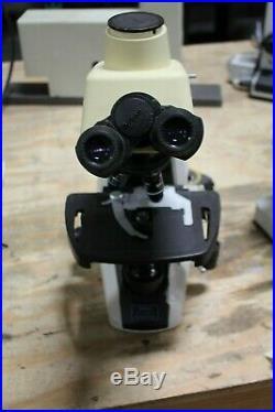 Nikon Eclipse E200 Microscope With 4 Nikon E Plan Objectives