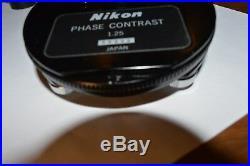 Nikon Eclipse E400 microscope 4 Plan Obj. With Ergonomic Head and Phase Contrast