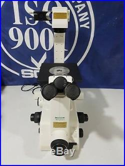 Nikon Eclipse TE300 Inverted Microscope with Plan UW 1X, 2X, Fluor 4X & 0500-0087
