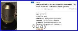 Nikon Hoffman Modulation Contrast Plan Fluor ELWD 10X Microscope Objective