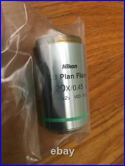 Nikon LU Plan Fluor 20X/0.45 OFN25 WD /0 Lens Objective Microscope Macro Photo