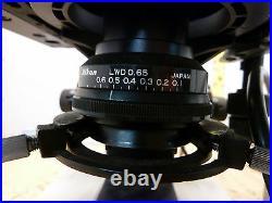Nikon Labophot trinocular research microscope M Plan objectives 2M-45.5