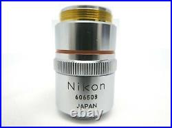 Nikon M Plan 2.5 0.075 Microscope Objective 210/0 OPTISTATION 3 Used Working