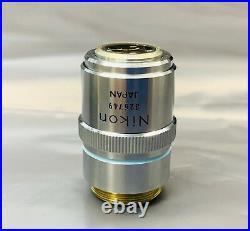 Nikon M Plan 40X/0.5 ELWD Microscope Objective Lens 210mm rms