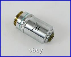 Nikon M Plan 40x / 0.65na DIC Microscope Objective 1mm Working Distance