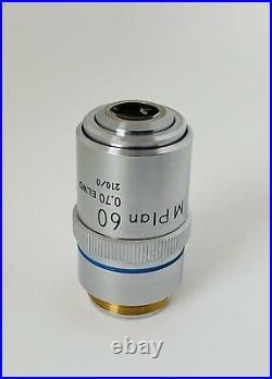Nikon M-Plan 60X/0.70 ELWD Microscope Objective 210mm