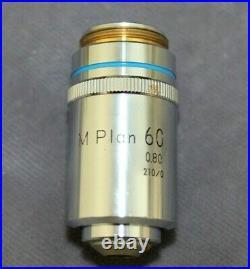 Nikon M Plan 60x /. 80 210/0 Metallurgical Microscope Objective