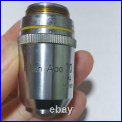 Nikon Microscope Lens Plan Apo 10 0.4 160/0.17 Limited Japan LTE407