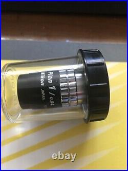 Nikon Microscope Objective CF Plan lens 1x/0.04 160 tube length