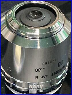 Nikon Microscope Objective Lens CF Plan 100x/ 0.80 c ELWD /0 BD, DIC