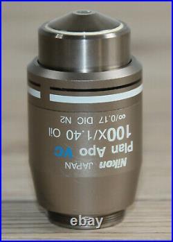 Nikon Mikroskop Microscope Objektiv Plan Apo VC 100x/1,40 Oil DIC N2 (WD 0.13)