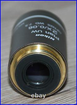 Nikon Mikroskop Microscope Objektiv Plan UW 2x/0,06 WD 7.5 OFN25