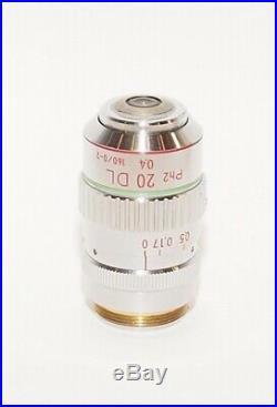 Nikon Ph2 20 DL 0.4 160/0-2 20x Phase Contrast Microscope Objective