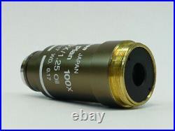 Nikon Plan 100X/1.25 /0.17 WD 0.17 Oil Microscope Objective