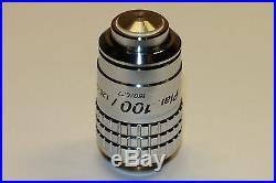 Nikon Plan 100X/1.25 160/0.17 Oil microscope objective